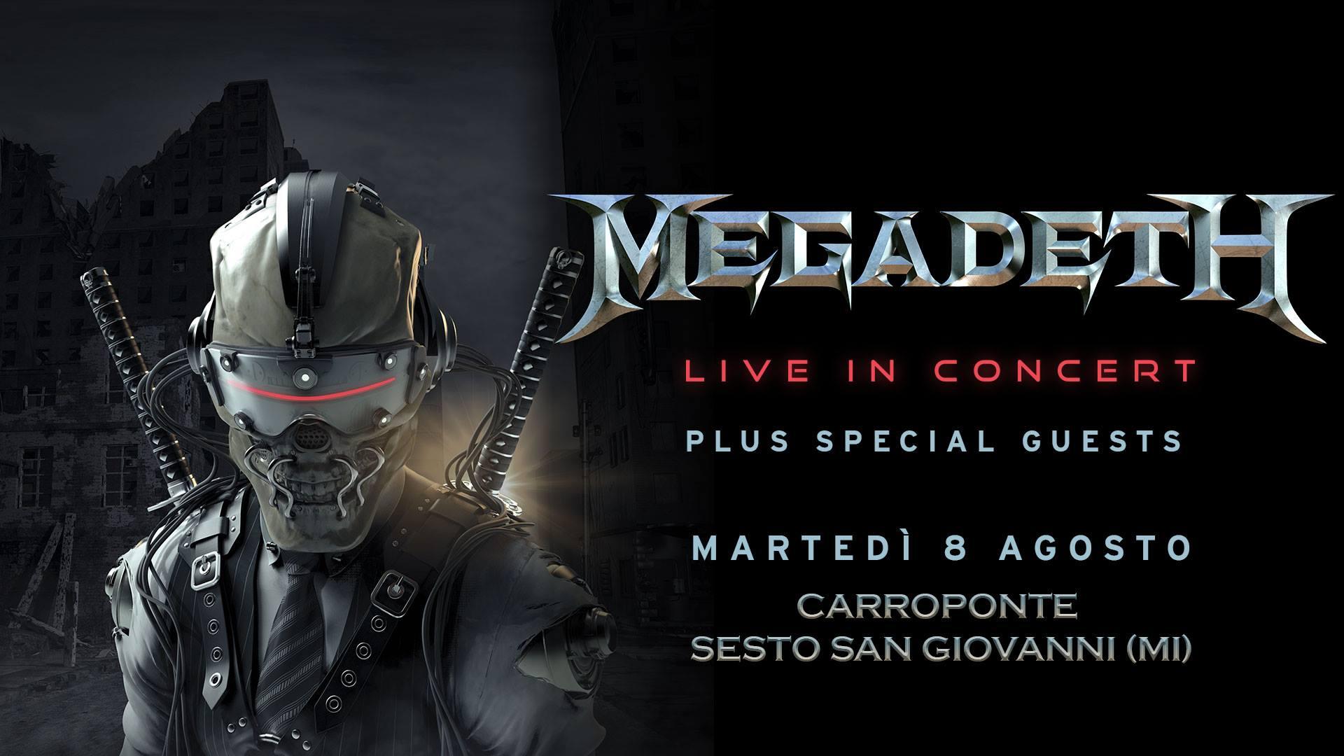 Megadeth - Unica data in Italia