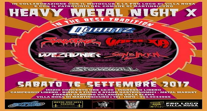 Heavy Metal Night X : Quartz headliner