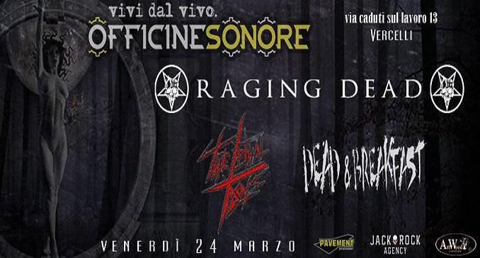 Raging Dead - Dettagli Debut Album e Prime Date Tour Promozionale