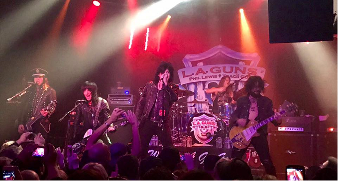 L.A. Guns with Tracii Guns and Phil Lewis - Whisky a Go Go, Los Angeles - 3 Marzo 2017