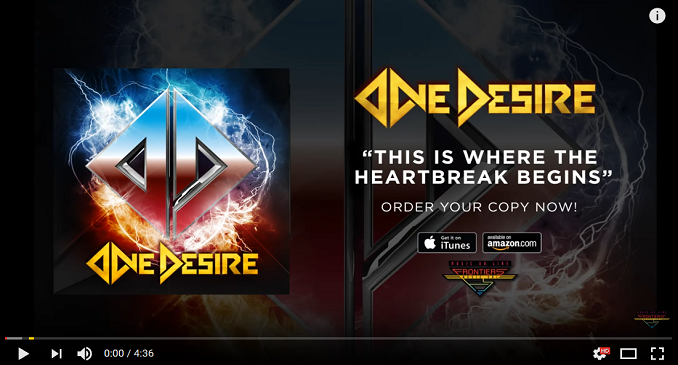 One Desire - Official Audio on Line: 'This Is Where The Heartbreak Begins'
