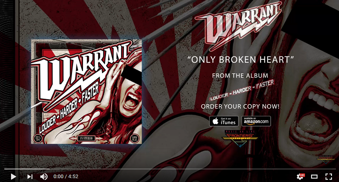 Warrant - Singolo on Line: 'Only Broken Heart'