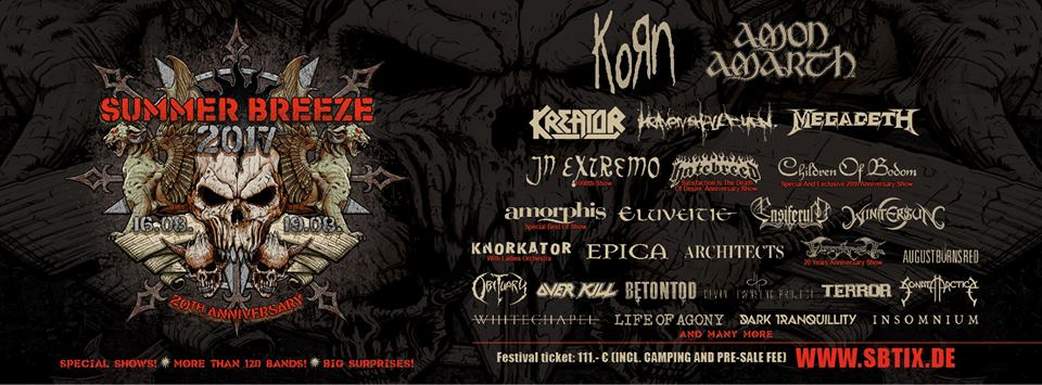 SUMMER BREEZE - Korn confermati