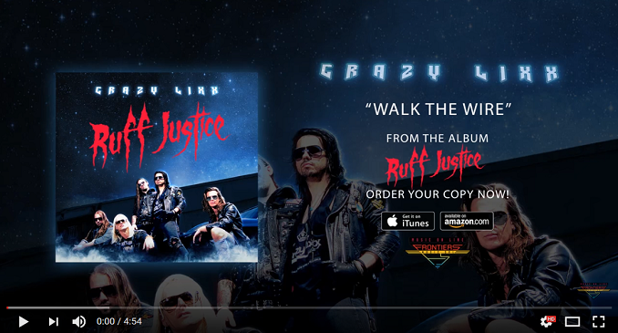 Crazy Lixx- Official Audio on Line: 'Walk The Wire'