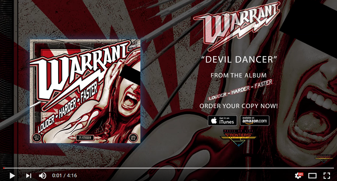 Warrant - Ancora un brano dal nuovo album 'Louder Harder Faster' on line. Si tratta di: 'Devil Dancer'