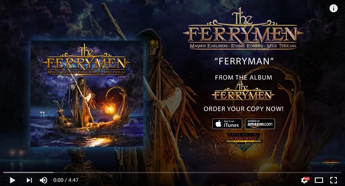 The Ferrymen - Official Audio per la band di Magnus Karlsson, Ronnie Romero e Mike Terrana