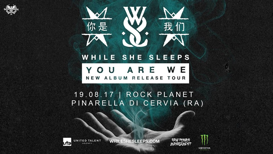 WHILE SHE SLEEPS - Ad Agosto in Italia
