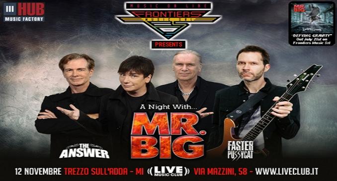 Mr. Big - A Novembre Unica Data al Live Club di Trezzo