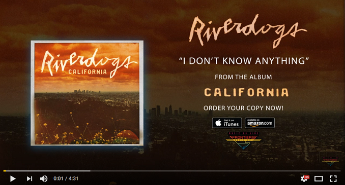 Riverdogs - Official Audio on Line: 'I Don't Know Anything'