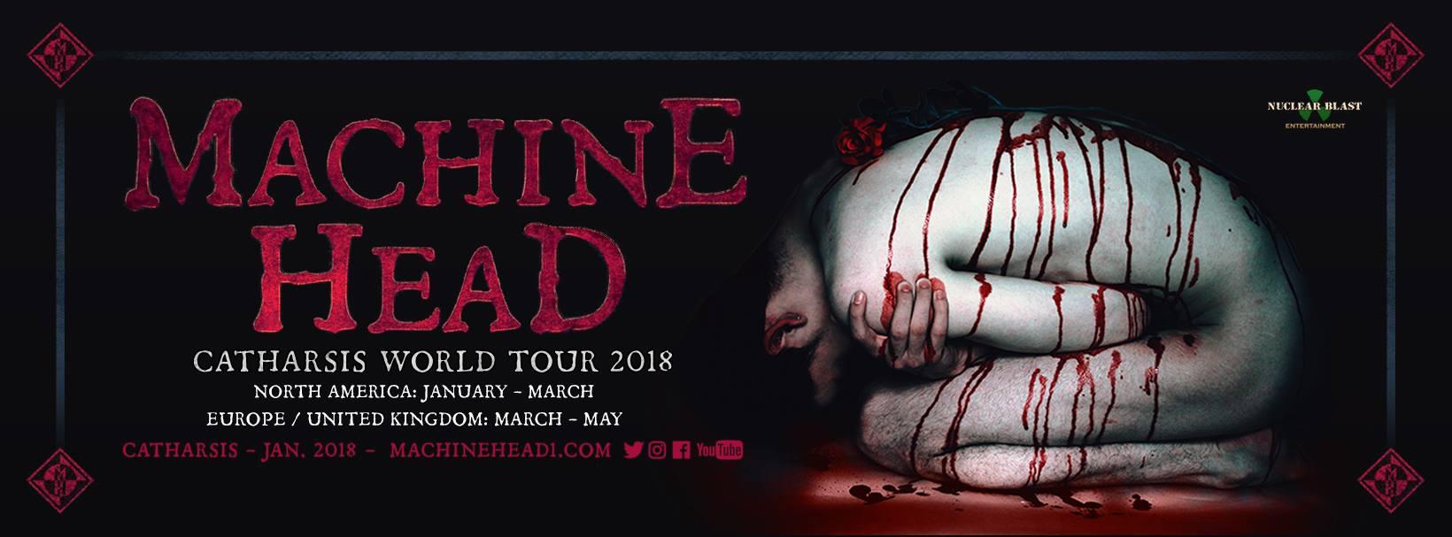MACHINE HEAD - Tre concerti nel 2018