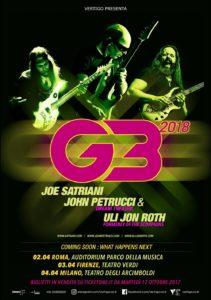 G3: Joe Satriani, John Petrucci, Uli Jon Roth @ Teatro Verdi - Firenze   Firenze   Toscana   Italia