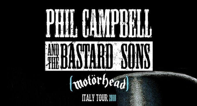 Phil Campbell & the Bastard Sons - A Marzo Tre Date in Italia