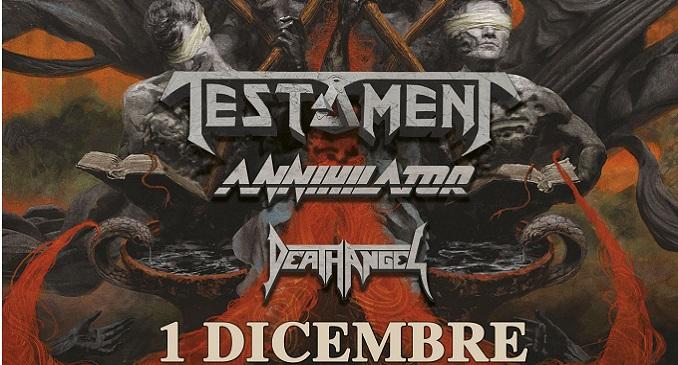 Testament+ Annihilator + Death Angel - Tutte le info sulla data al Live Club