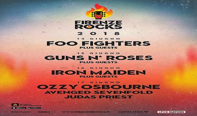 FIRENZE ROCKS 2018 : FOO FIGHTERS, IRON MAIDEN, OZZY OSBOURNE, JUDAS PRIEST, AVENGED SEVENFOLD e info biglietti!