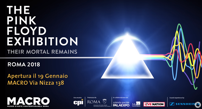 La mostra 'The Pink Floyd Exhibition: Their Mortal Remains'  a Roma dal 19 Gennaio 2018