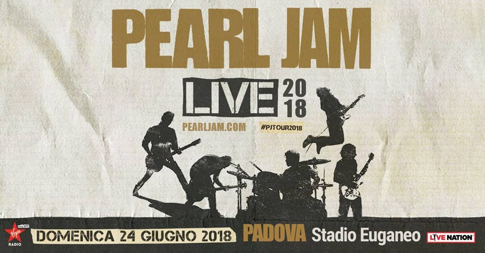 PEARL JAM - Finalmente in Italia a Giugno