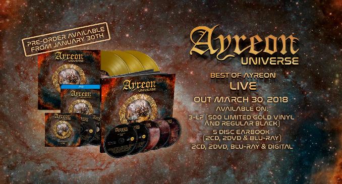Ayreon -La copertina del nuovo dvd 'Ayreon Universe - Best Of Ayreon Live'