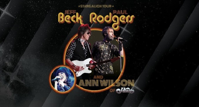 Jeff Beck + Paul Rodgers + Ann Wilson - 'Stars Align Tour' negli States e in Canada