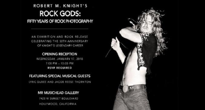 Il libro fotografico di Robert Knight: 'Rock Gods: Fifty Years Of Rock Photography' disponibile da metà gennaio