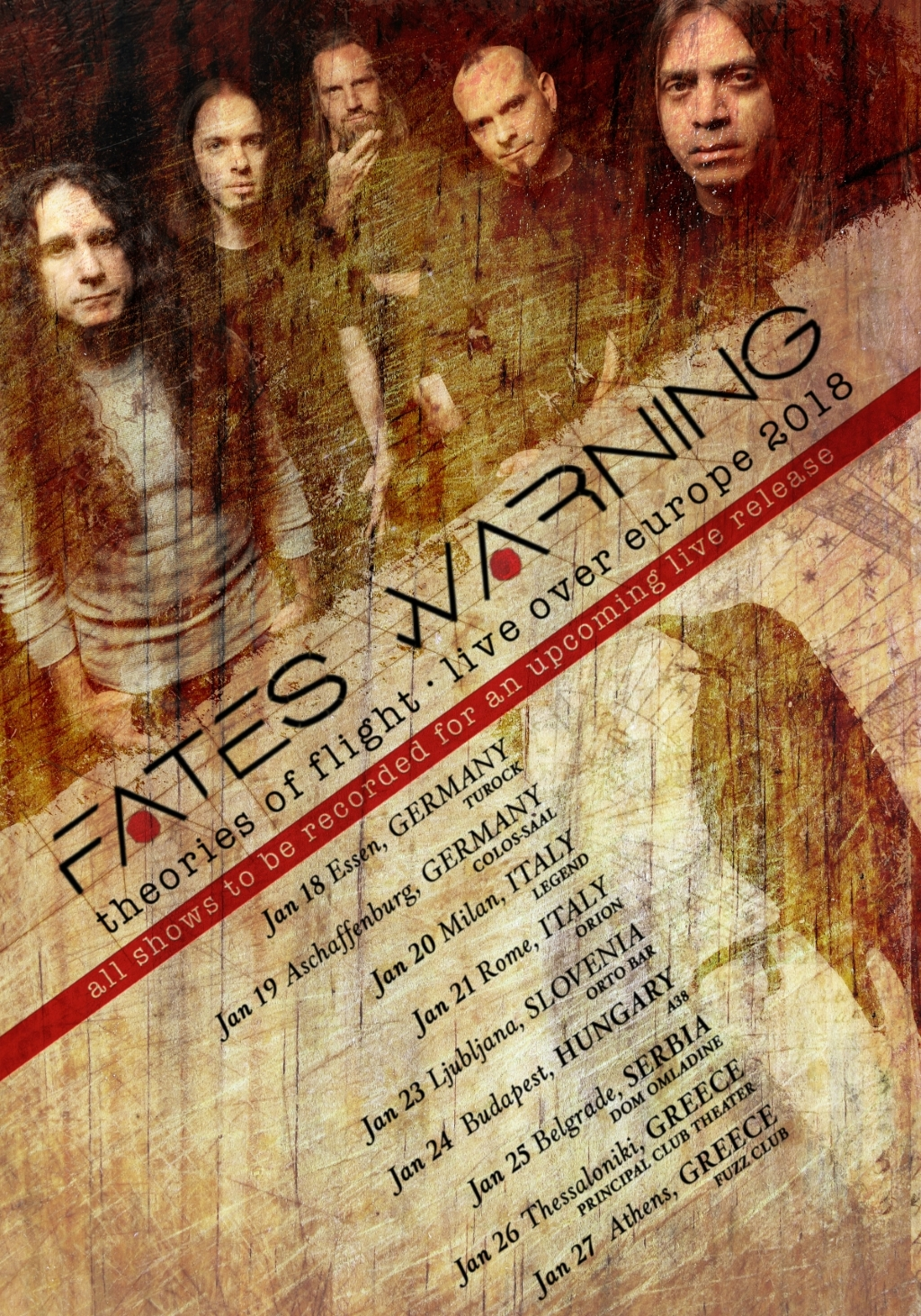 Fates Warning + Methodica @ Orion Live Club, Roma – 21 gennaio 2018
