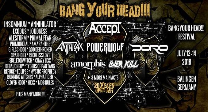 Bang Your Head Festival - A Luglio si va in Germania