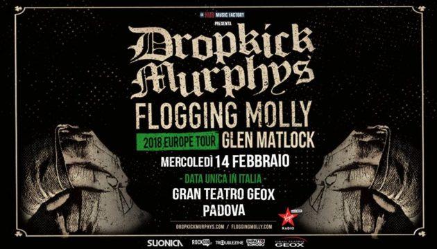 DROPKICK MURPYS - Unica data in Italia con Flogging Molly e Glen Matlock