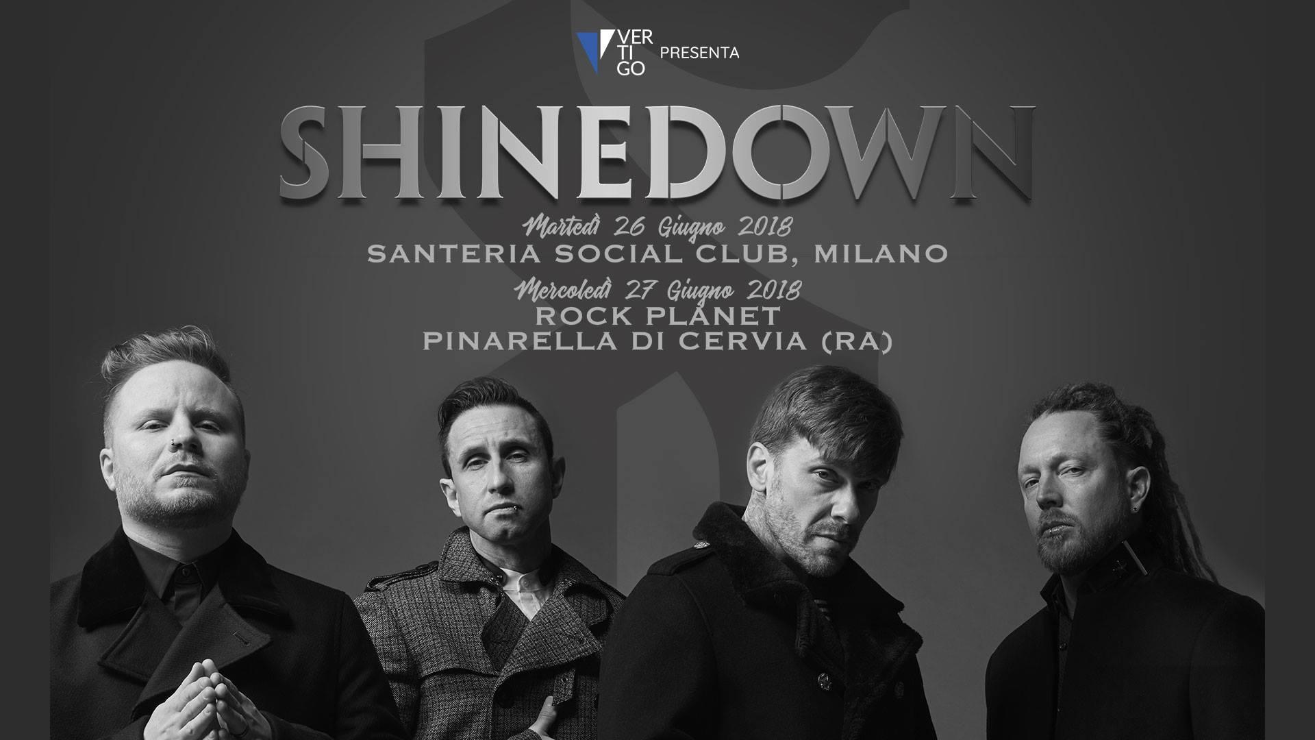 SHINEDOWN - A Giugno in Italia