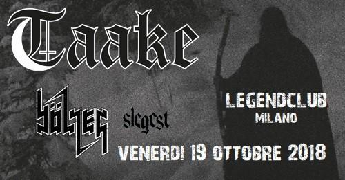 TAAKE - Una serata totalmente black metal a Ottobre.