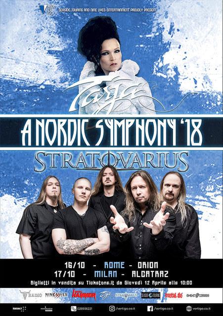 TARJA E STRATOVARIUS - Due date insieme in Italia