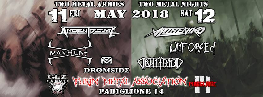 Two Metal Armies Two Metal Nights: cambio di line up