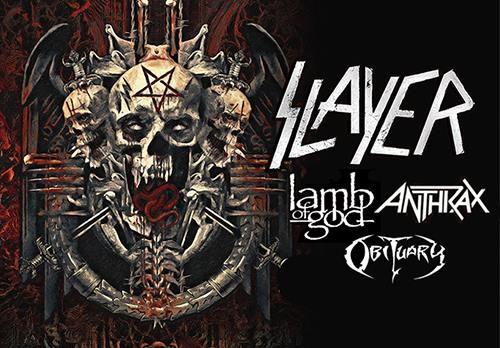 Slayer - Ufficializzata la data italiana del tour conclusivo: a novembre a Milano