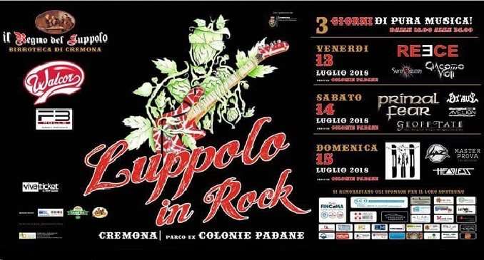 Luppolo In Rock - Nuovo Festival a Cremona dal 13 al 15 luglio