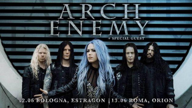 ARCH ENEMY - Gli orari del concerto di Bologna
