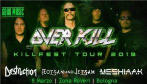 Overkill + Destruction + Flotsam & Jetsam @ Circolo Arcadia, Palosco (Bg) @ Calcinate | Lombardia | Italia