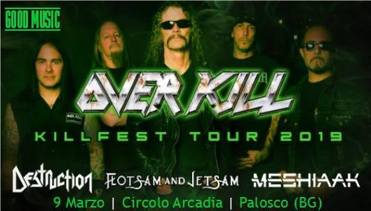 KILLFEST TOUR - Spostata la data degli Overkill