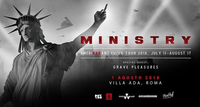 Ministry + Grave Pleasures @ Villa Ada, Roma - 1 agosto 2018