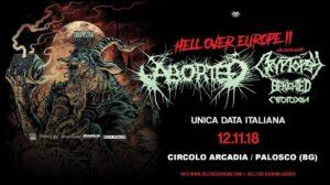 ABORTED + CRYPTOPSY @ CIRCOLO ARCADIA | Calcinate | Lombardia | Italia