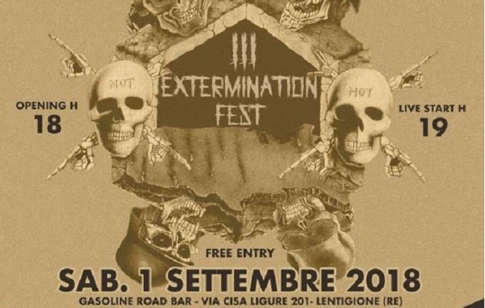 Exterminatin Fest - Sabato 1 Settembre in provincia di Reggio Emilia con Ultra-Violence, Ulveddharr & more...