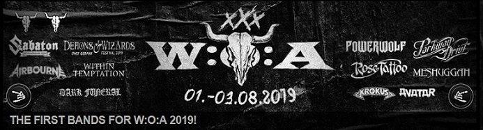 Wacken 2019 : annunciate le prime bands