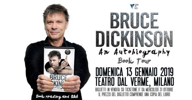 IRON MAIDEN - Bruce Dickinson presenterà a Milano il suo nuovo libro