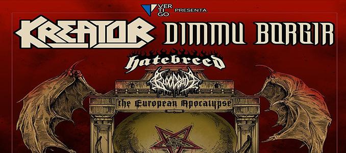 Biglietti scontati fino al 30 novembre per KREATOR + DIMMU BORGIR, BEHEMOTH + AT THE GATES e molti altri!
