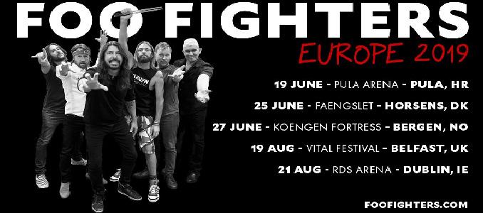 FOO FIGHTERS: 5 date estive per il tour europeo 2019