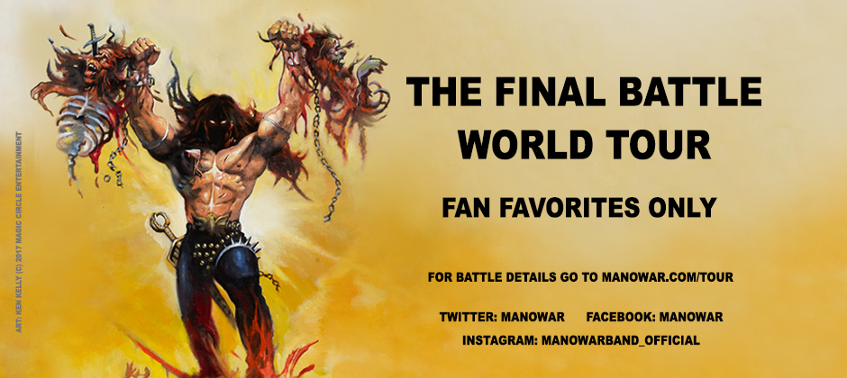 "Manowar: due nuove date europee del ""The Final Battle Tour"""
