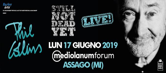 PHIL COLLINS a Milano: info biglietti (fino a 640€) e diffida a Viagogo di Barley Arts