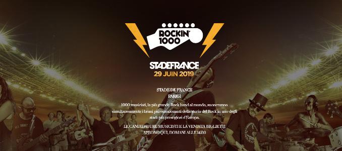Rockin'1000: il prossimo concerto a Parigi!
