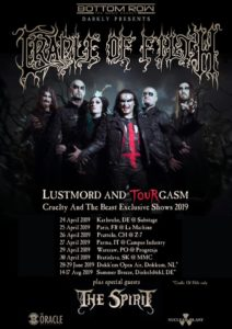 CRADLE OF FILTH - Lustmord & TourGasm @ Campus Music Industry – Parma