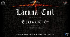 LACUNA COIL + ELUVEITIE + INFECTED RAIN @ ORION CLUB
