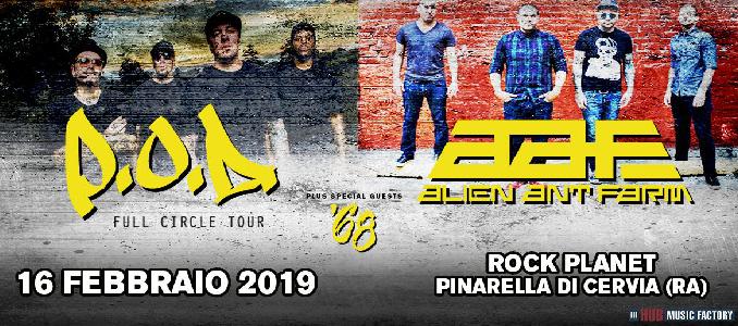P.O.D. e Alien Ant Farm sabato al Rock Planet (Ravenna), setlist e info