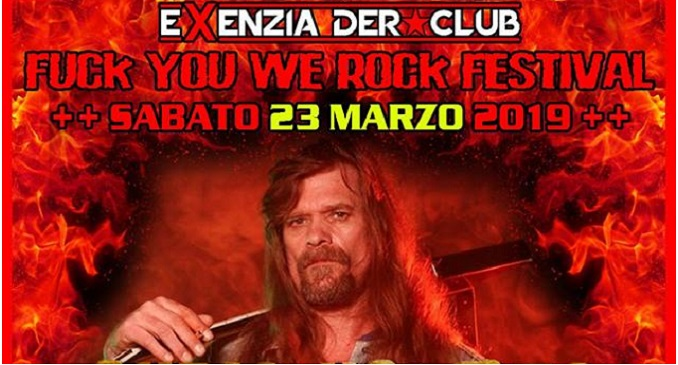 FUCK YOU WE ROCK FESTIVAL 2019 - I dettagli dell'evento con Chris Holmes e altri
