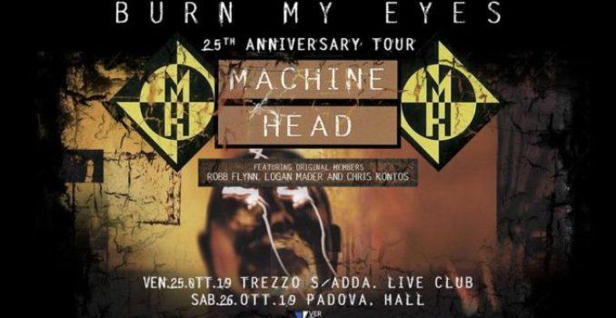 MACHINE HEAD – Tornano in Italia con la Line Up originale